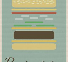 """Royale With Cheese"" Poster by Webasaurus"