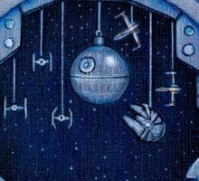 StarWars Christmas Door Sticker