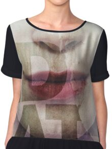 Red lips Chiffon Top