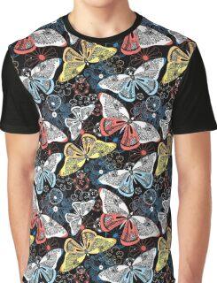 Graphic pattern fancy butterflies Graphic T-Shirt