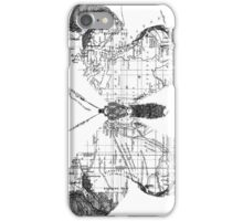 Butterfly Wanderlust Black and White iPhone Case/Skin