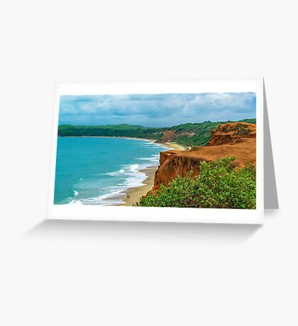 Aerial Landscape Scene Pipa Beach, Brazil Greeting Card