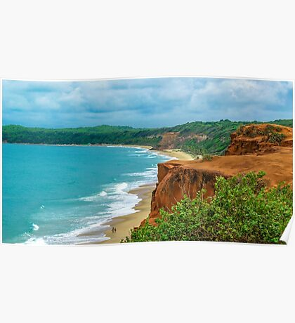 Aerial Landscape Scene Pipa Beach, Brazil Poster