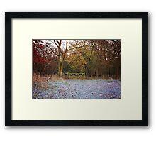 Winter Sunrise in the Chilterns Framed Print