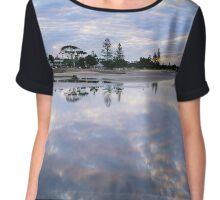 Low Tide Reflection Chiffon Top