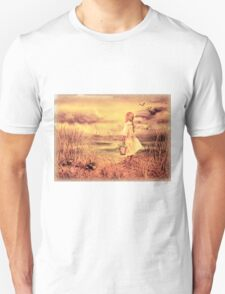 Girl And The Ocean Vintage Art T-Shirt