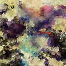 Violet Abstract Painting by Deniz Akerman