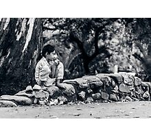 Stolen Shot of Childhood Photographic Print