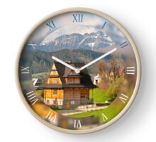 Highlands style building view Clock