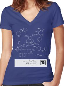 Feel good shirt of the pharma Women's Fitted V-Neck T-Shirt