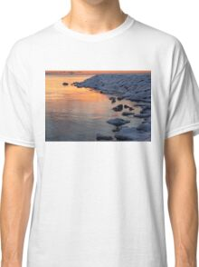 Cold and Hot - Colorful Sunrise on the Lake Classic T-Shirt