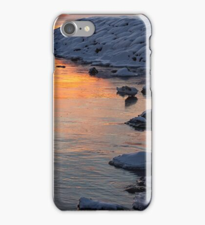 Cold and Hot - Colorful Sunrise on the Lake iPhone Case/Skin