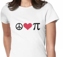 Peace Love Pi Womens Fitted T-Shirt