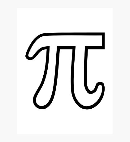 Pi number Photographic Print