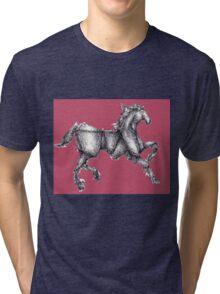 Rose Origami Horse Tri-blend T-Shirt