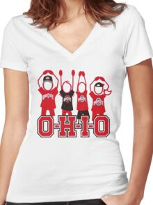Ohio State Michigan Support Shirt Women's Fitted V-Neck T-Shirt