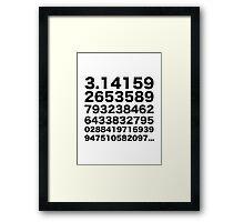 Pi number Framed Print