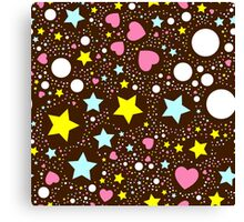 Abstract cute background with stars Canvas Print