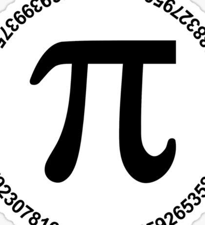 Pi circle Sticker