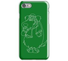 Muttley single line art iPhone Case/Skin