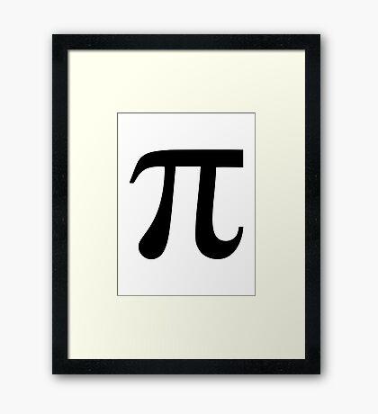 Pi symbol Framed Print