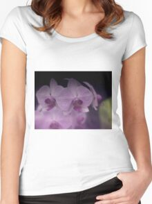 Soft Begonia Orcid Women's Fitted Scoop T-Shirt