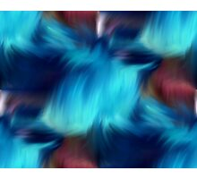Blue Abstract Brush Strokes Photographic Print