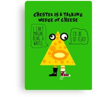 Chester the Cheese Wedge Canvas Print
