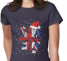 Christmas Lion Womens Fitted T-Shirt