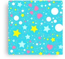 Abstract background with stars  Canvas Print