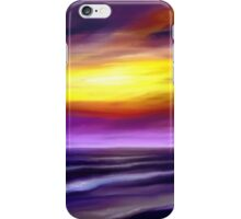 nature seascape landscape sunset sunrise tropical beach blue purple yellow iPhone Case/Skin