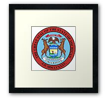 Michigan seal Framed Print