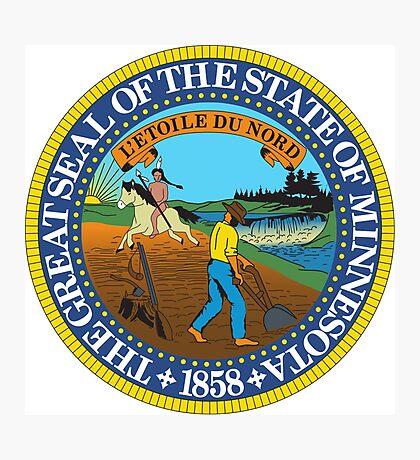Minnesota seal Photographic Print