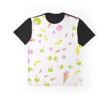 Fun Beach Pattern on a white background Graphic T-Shirt