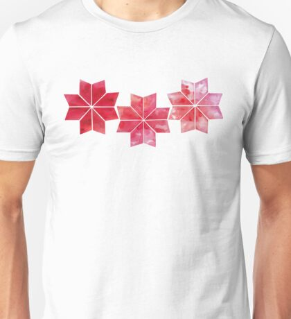 Watercolor snowflakes Unisex T-Shirt
