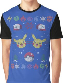 Ugly Pokemon Christmas Sweater T-Shirt Graphic T-Shirt