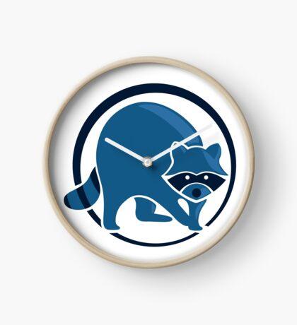 LIMITED EDITION: Blue Optimistic Raccoon Clock