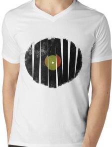 Broken Vinyl Record Retro Only Mens V-Neck T-Shirt
