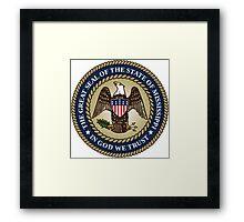 Mississippi seal Framed Print