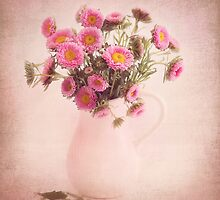 Bouquet  of pink and yellow flowers by carolynrauh