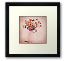 Bouquet  of pink and yellow flowers Framed Print