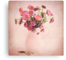 Bouquet  of pink and yellow flowers Canvas Print