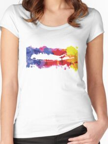 Long Island Splash of Color Women's Fitted Scoop T-Shirt