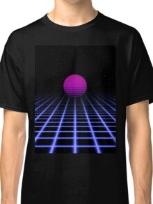 80s Digital Horizon - Sunset Aesthetic Classic T-Shirt