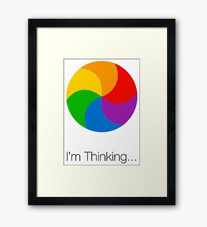 I'm Thinking... Framed Print