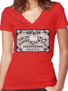 Witch Board Women's Fitted V-Neck T-Shirt