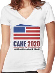 CAKE 2020 Women's Fitted V-Neck T-Shirt