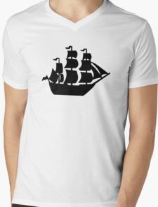 Pirate ship Mens V-Neck T-Shirt