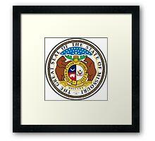 Missouri seal Framed Print