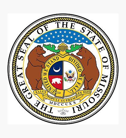 Missouri seal Photographic Print